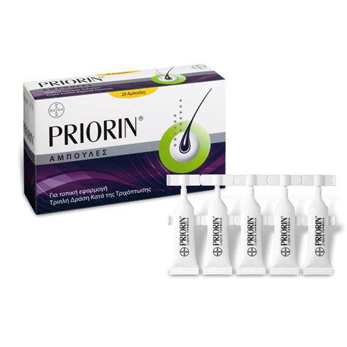 Bayer Priorin 20 αμπούλες κατά της τριχόπτωσης για τοπική εφαρμογή