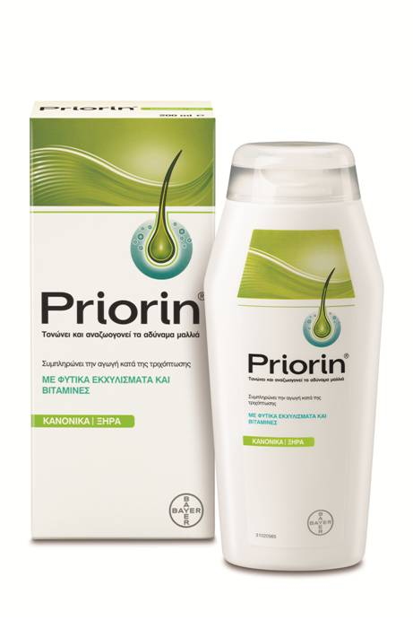 Bayer Priorin σαμπουάν κατά της τριχόπτωσης για κανονικά & ξηρά μαλλιά
