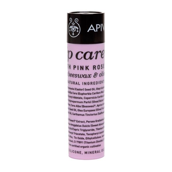 Apivita Lip care Pink Rose Φροντίδα χειλιών με τριαντάφυλλο 4.4gr