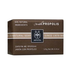 Apivita Natural Soap Σαπούνι για πρόσωπο και σώμα με πρόπολη 125gr