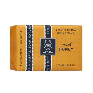 Apivita Natural Soap Σαπούνι για πρόσωπο και σώμα με μέλι 125gr