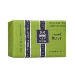 Apivita Natural Soap Σαπούνι για σώμα και χέρια με ελιά 125gr