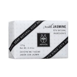 Apivita Natural Soap Σαπούνι για πρόσωπο και σώμα με γιασεμί 125gr