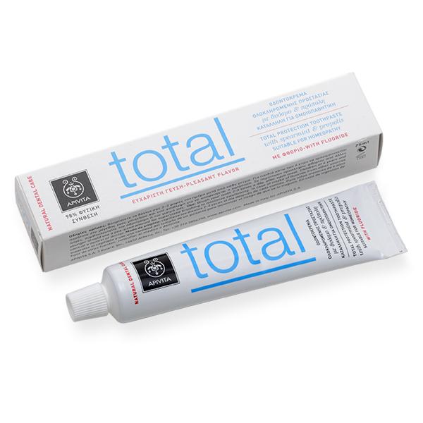 Apivita Natural Dental Care Total Οδοντόκρεμα με πρόπολη & δυόσμο