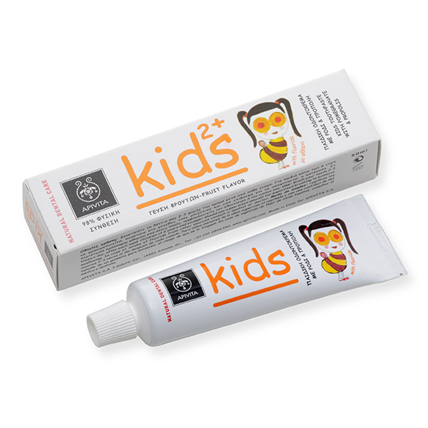 Apivita Natural Dental Care Kids 2+ Παιδική οδοντόκρεμα