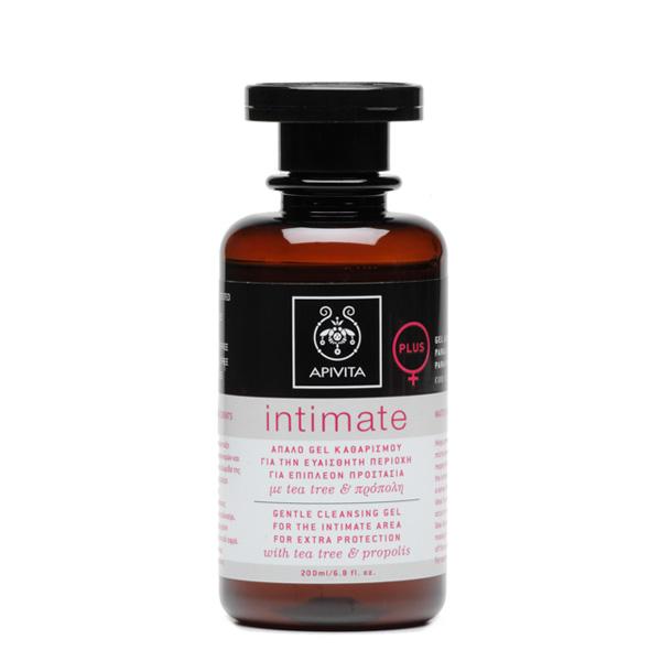 Apivita Intimate Plus Απαλό τζελ καθαρισμού για επιπλέον προστασία της ευαίσθητης περιοχής