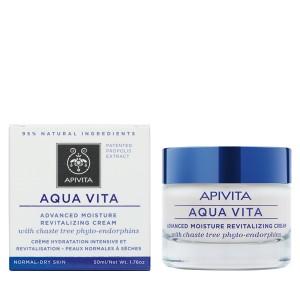 Apivita Aqua Vita Κρέμα εντατικής ενυδάτωσης & αναζωογόνησης για κανονικές-ξηρές επιδερμίδες