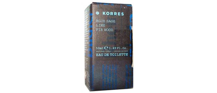 Korres ,Blue Sage, - Lime Fir Wood, Eau de Toilette ,50ml, Ανδρικό, ,Μπλε Φασκόμηλο, Μοσχολέμονο, Ξύλο Έλατου