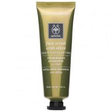 Apivita Face scrub with olive 50ml. Κρέμα βαθιάς απολέπισης με ελία.