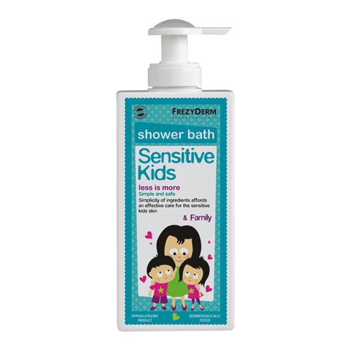 Frezyderm Sensitive kid's Shower bath 200ml Ενυδατικό αφρόλουτρο για τη φυσιολογική, ευαίσθητη και ερεθισμένη παιδική επιδερμίδα