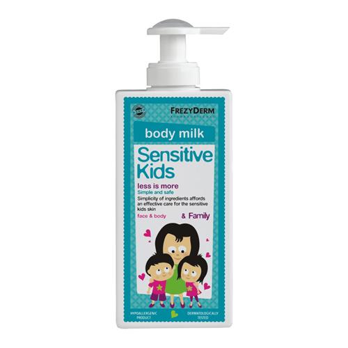 Frezyderm Sensitive kid's Body milk 200ml Απαλό ενυδατικό γαλάκτωμα για τη φυσιολογική, ευαίσθητη ερεθισμένη παιδική επιδερμίδα