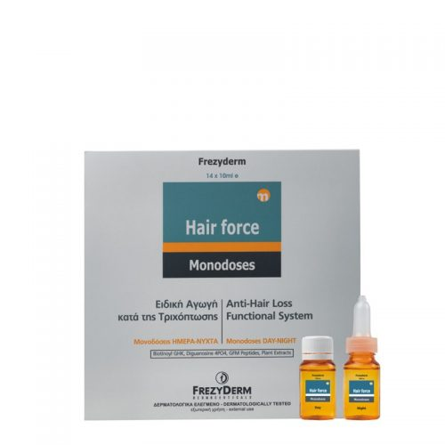 Frezyderm Hair Force Monodose Day/Night 14x10ml Ειδική αγωγή μονοδόσεων κατά της τριχόπτωσης