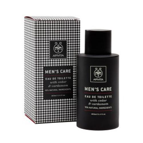 Apivita Men's care Eau de toilette Αντρικό άρωμα με κέδρο και κάρδαμο