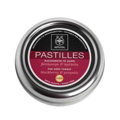 Apivita Pastilles Παστίλιες με βατόμουρο & πρόπολη 45g