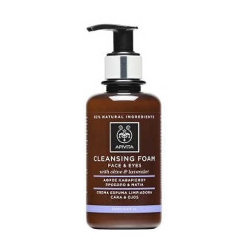 Apivita Cleansing Κρεμώδης αφρός καθαρισμού για πρόσωπο & μάτια