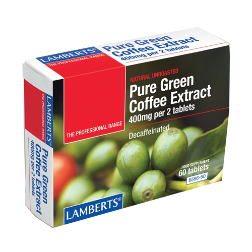 Lamberts Pure Green Coffee Extract  60 tabs Κάψουλες πράσινου καφέ