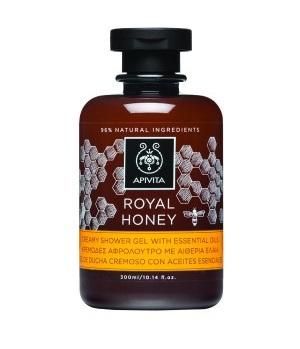 Apivita Royal honey creamy Shower gel 300ml Κρεμώδες αφρόλουτρο με αιθέρια έλαια