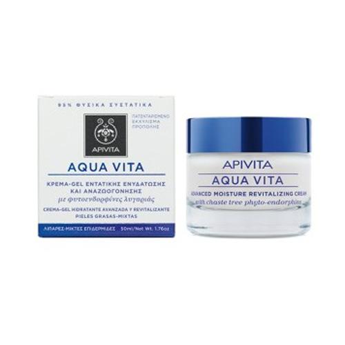Apivita Aqua Vita Κρέμα Gel εντατικής ενυδάτωσης & αναζωογόνησης για λιπαρές - μικτές επιδερμίδες