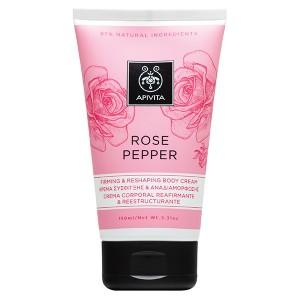 Apivita Rose Pepper Firming & reshaping Body cream Κρέμα σύσφιγξης & αναδιαμόρφωσης