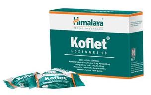 Himalaya Koflet Lozenges 10-Παστίλιες που μαλακώνουν το λαιμό με φυσικό τρόπο