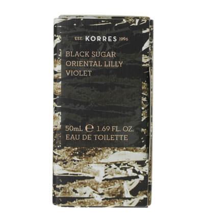 Korres Eau de Toilette Black Sugar Oriental Lily & Violet Γυναικείο Άρωμα 50ml