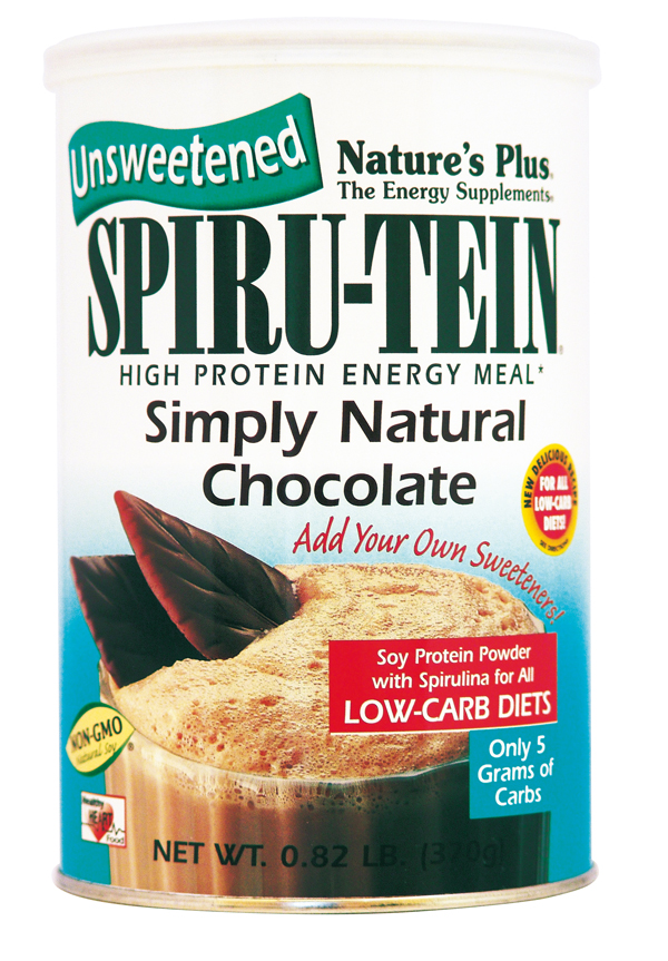 Nature's Plus Spiru-tein Simply natural Chocolate Unsweetened